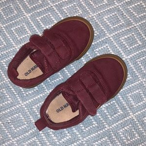 Old Navy Toddler Burgundy Double Strap Sneakers